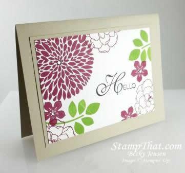 Stampin' Up! Handmade Card