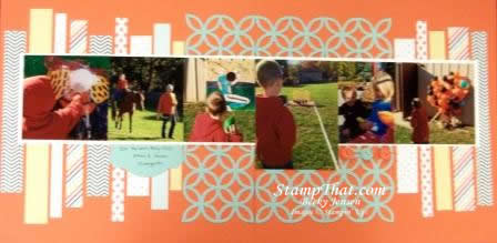 2page scrapbook layout