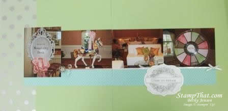 Dare to Dream scrapbook pages