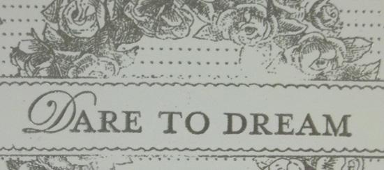 Dare to Dream Scrapbook Page