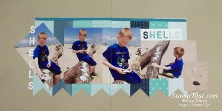 Sea Shell Scrapbook Page