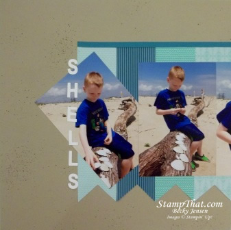 Sea Shell scrapbooking