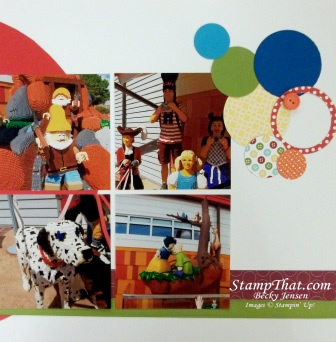 Downtown Disney Scrapbook Page