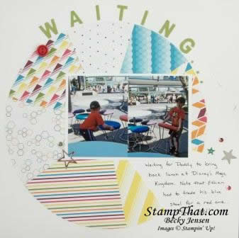 Waiting scrapbook pages