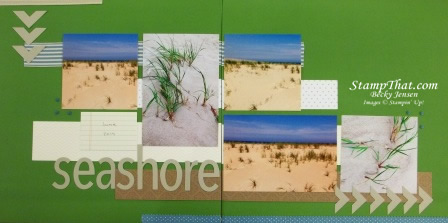 Seashore scrapbook layout