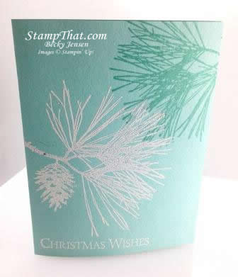 Ornamental Pine stamp set