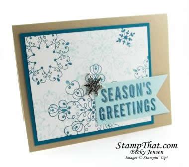 Letterpress Winter Christmas Card