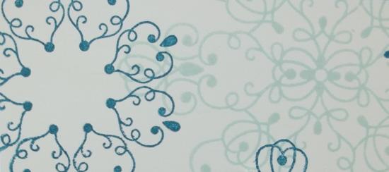 Letterpress Winter Snowflake Card