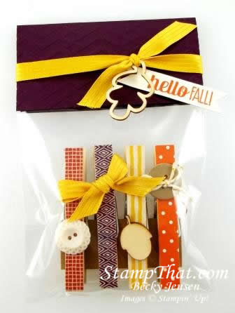 Simple Fall Gift Bag