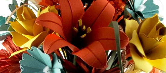 Long Stem Paper Flower Arrangement