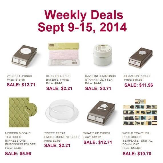 Stampin' Up! Sale beginning 9.9.14