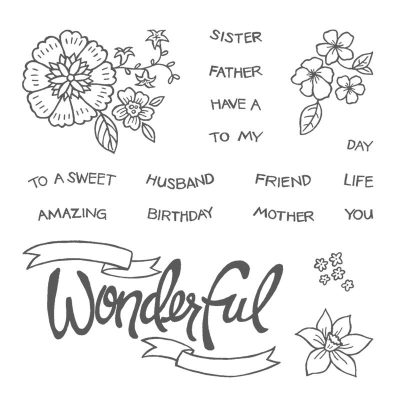 You're Wonderful stamp set