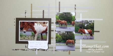 Wild Horses Scrapbook Pages