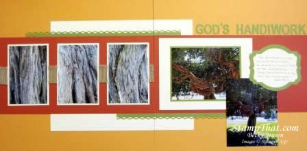 God's Handiwork scrapbook layout