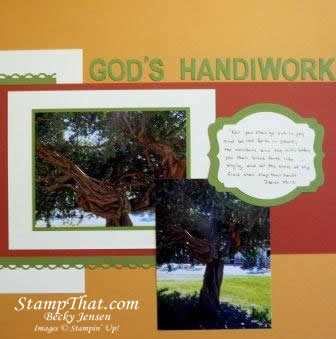 Tree scrapbooking