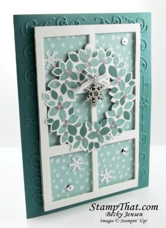 Wondrous Wreath Window Card
