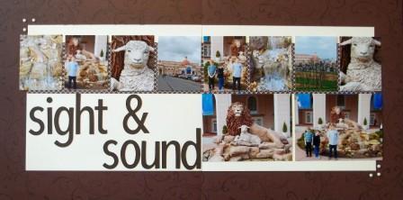 Sight & Sound Srapbook Page