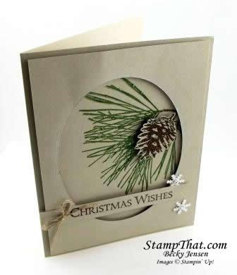 Stampin' Up! Ornamental Pine stamp set