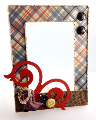 Decorated frame -wild west
