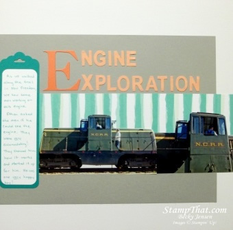 Engine Exploration scrapbook page