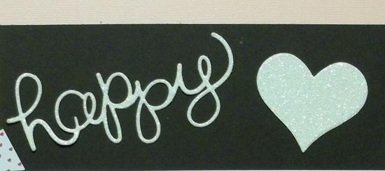 Happy Heart Day Scrapbook Layout