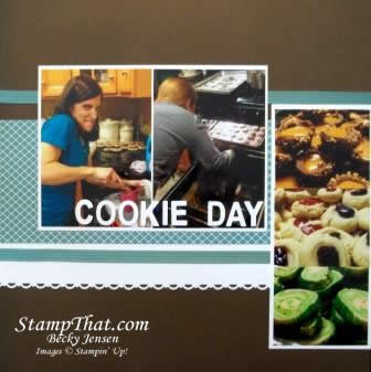 Cookie day scrapbook pages