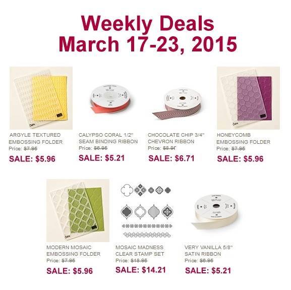 Stampin' Up! Sale March 17, 2015
