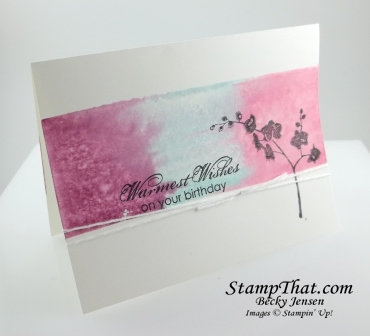 Stamping technique card