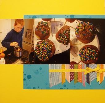 Cake Pop scrapbooking