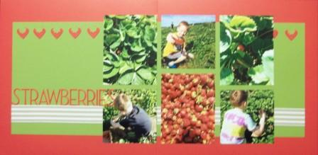 Stawberry picking scrapbook page