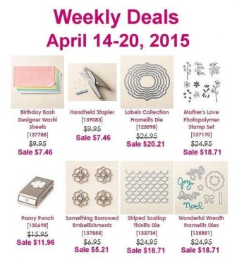 Stampin' Up! Sale 4-14-15