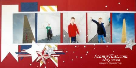 Patriotic Scrap Layout