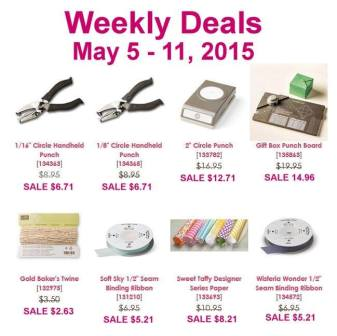 Stampin' Up! Sale May 5 -11, 2015