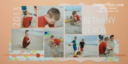 two page scrapbook layout