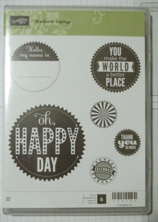 Starburst Sayings - Clear Mount - $12.00