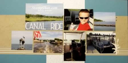 Canal Ride Scrapbook Page
