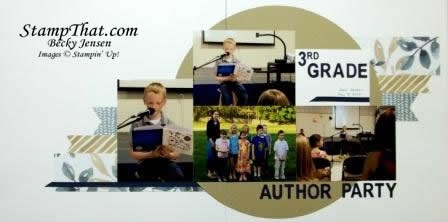 Author Party Scrapbook Layout
