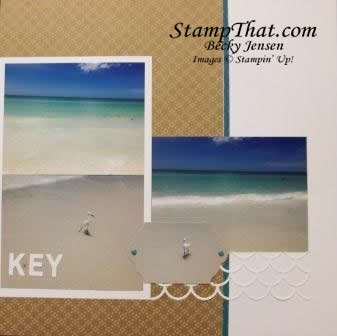 Beach Scrapbook page