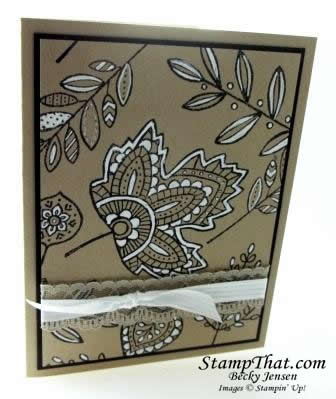 Stampin' Up! Lighthearted Leaves stamp set