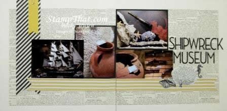Shipwreck Museum scrapbook layout