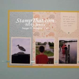 Nature scrapbook layout