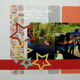 Bright scrapbook layout