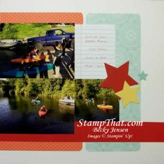 Stars Scrapbook Layout