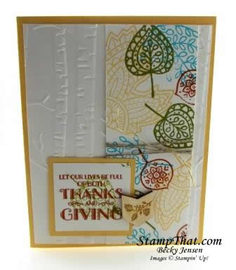 Lighthearted Leaves fall card