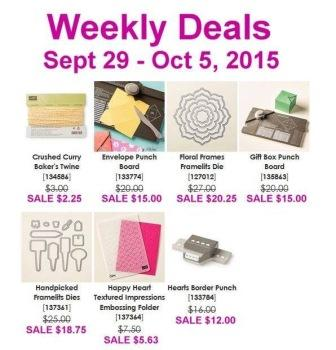 Sept 29 - Oct 5 Stampin' Up! Sale