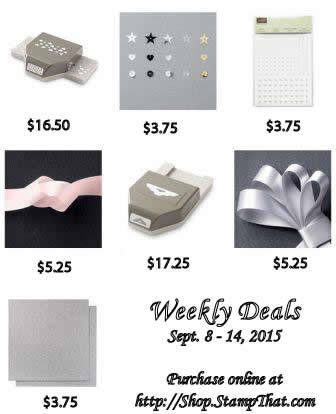 Sale items from Stampin' Up!