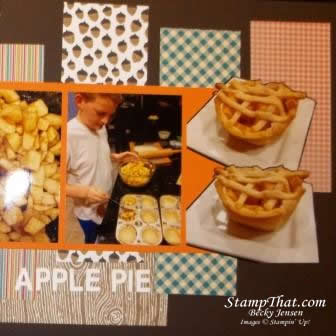 Apple Pie Scrapbook Page