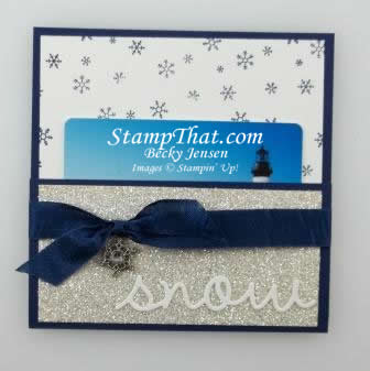 Snow Gift Card Holder