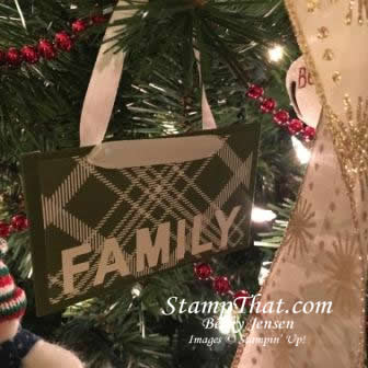 Christmas ornament for tickets