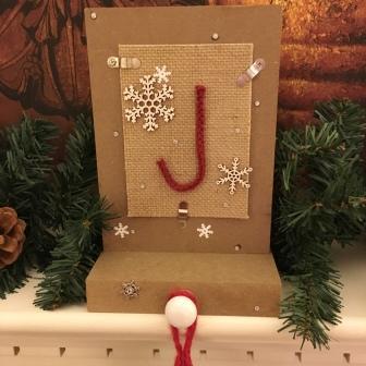SU! Decorated stocking holder